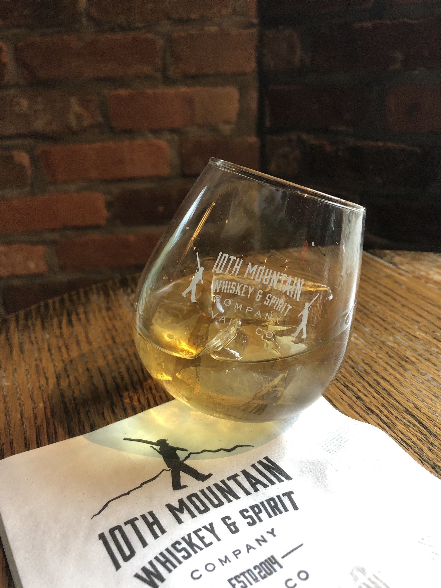 10th Mountain Whiskey & Spirit Co. Rocker Glass