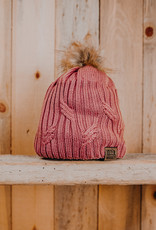 10th Mountain Whiskey & Spirit Co. Beanie Pink Fur Knit