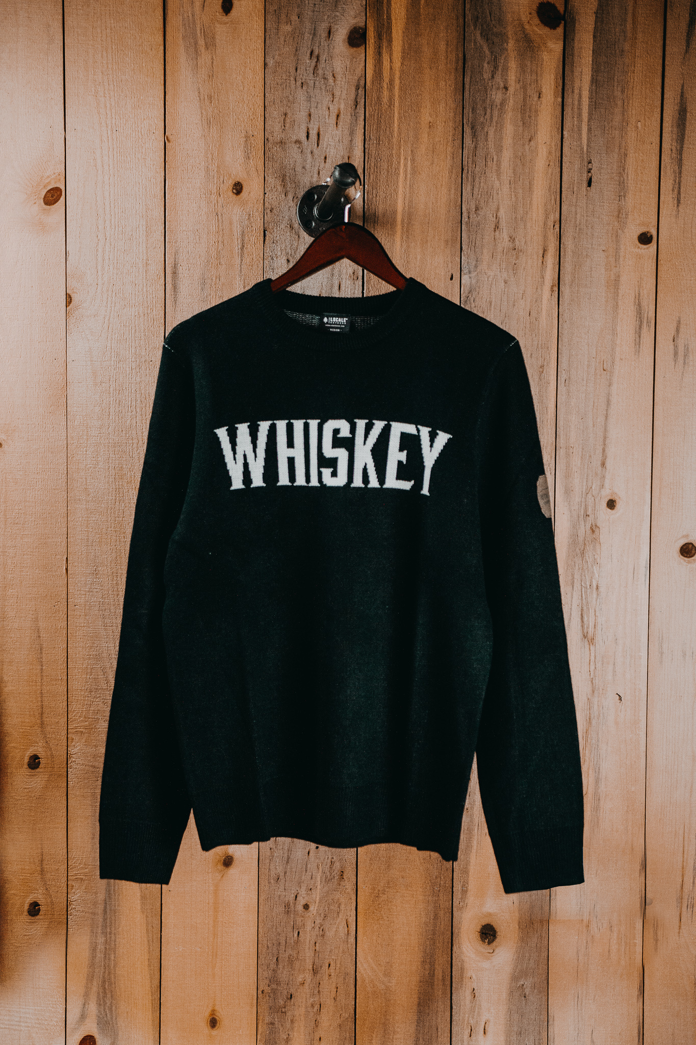 Sweater Black knit Whiskey - X small