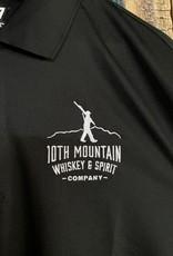 10th Mountain Whiskey & Spirit Co. Men's Golf Shirt - Black Large