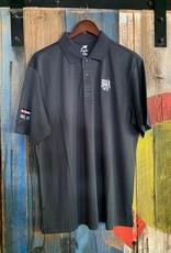 10th Mountain Whiskey & Spirit Co. Men's Golf Shirt - Navy  Large