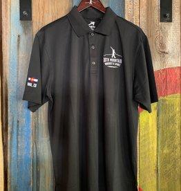 10th Mountain Whiskey & Spirit Co. Men's Golf Shirt - Black Medium