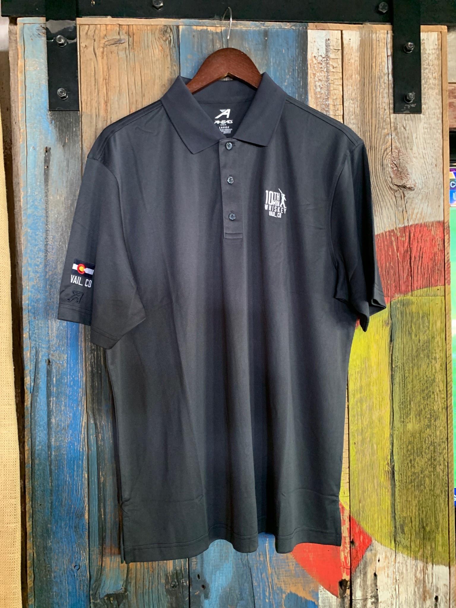 10th Mountain Whiskey & Spirit Co. Men's Golf Shirt - Navy XL
