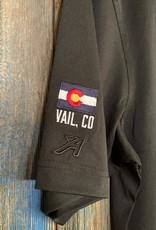 10th Mountain Whiskey & Spirit Co. Men's Golf Shirt - Black  3XL