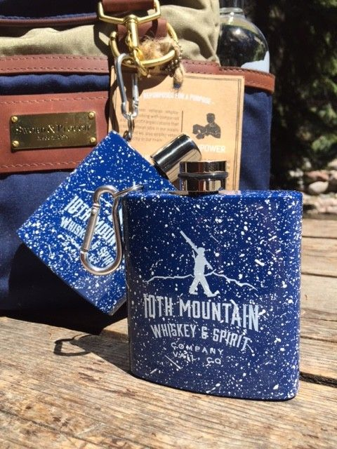 10th Mountain Whiskey & Spirit Co. Enamel Carabiner Flask