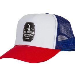 10th Mountain Whiskey & Spirit Co. Foam Trucker Hat (Red/White/Blue)