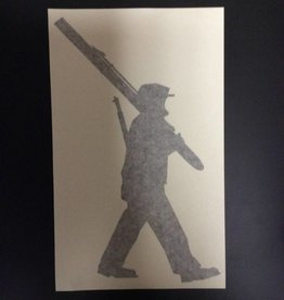 10th Mountain Whiskey & Spirit Co. Sticker, Big Soldier, Black