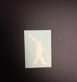 10th Mountain Whiskey & Spirit Co. Sticker-Vinyl Soldier, Small, White