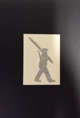 Sticker-Vinyl Soldier, Small, Black