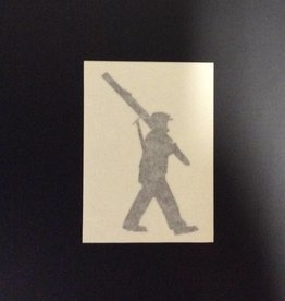 10th Mountain Whiskey & Spirit Co. Sticker-Vinyl Soldier, Small, Black