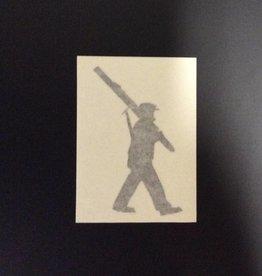 10th Mountain Whiskey & Spirit Co. Sticker-Vinyl Soldier, Small, Black