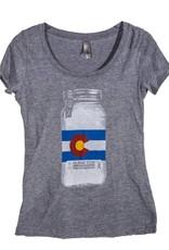 10th Mountain Whiskey & Spirit Co. Mason Jar - Women's Scoop Neck