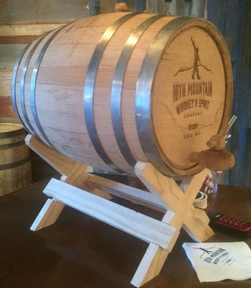 5 Gallon Logo'd Whiskey Barrel
