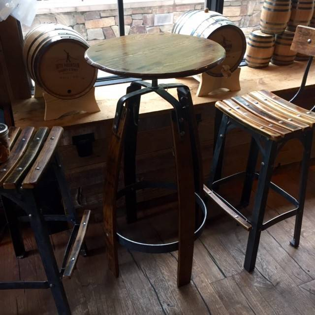 10th Mountain Whiskey & Spirit Co. Bar Table