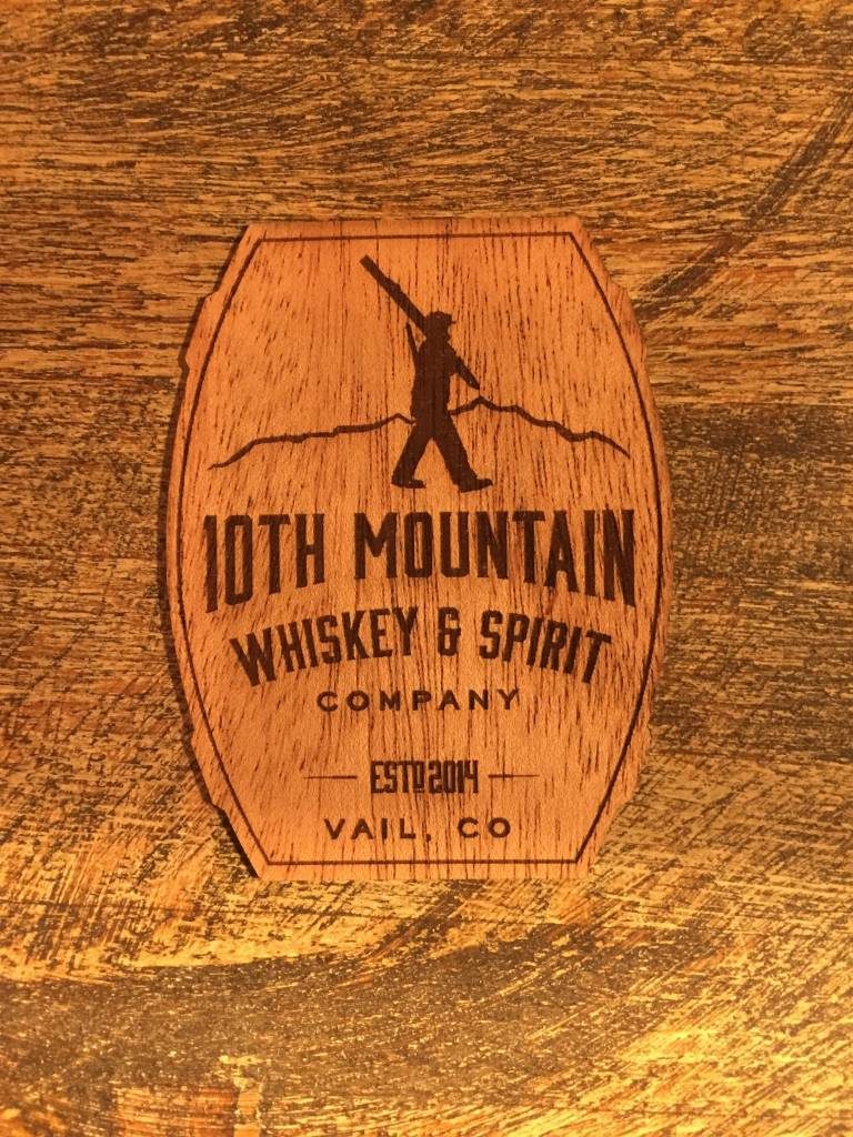 10th Mountain Whiskey & Spirit Co. Sticker-Wooden Badge