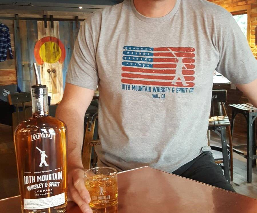 10th Mountain Whiskey & Spirit Co. American Flag Tee