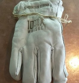 Branded Leather Ranch Gloves