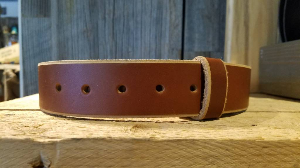 Leather Belt Chocolate