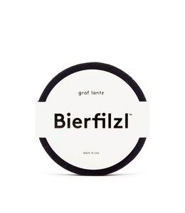 BIERFILZL FELT COASTERS : BLACK