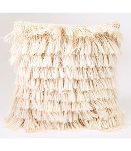ANGELA DAMMAN NATURAL FRINGE PILLOW