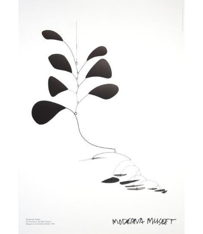 THE FOREST IS THE BEST PLACE : ALEXANDER CALDER FRAMED PRINT