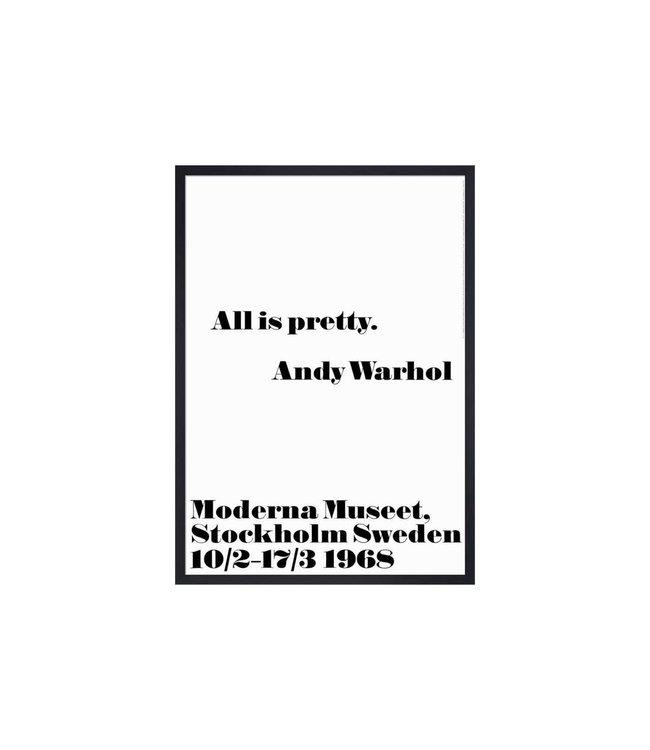 ANDY WARHOL : ALL IS PRETTY : FRAMED