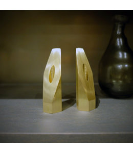 DRIFT CANDLE HOLDERS : BRASS