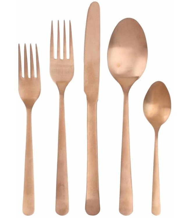 OSLO CUTLERY SET FOR FOUR   :   MATTE COPPER