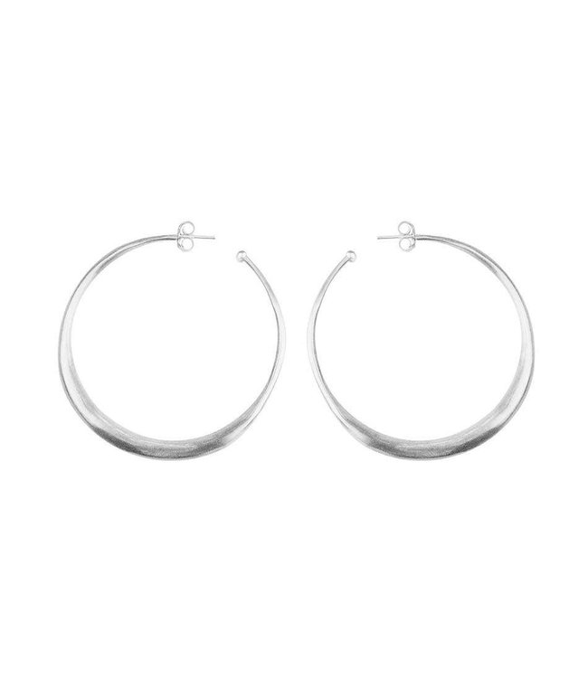 KENDALL CONRAD KENDALL CONRAD THICK ROUNDED HOOPS    :    STERLING