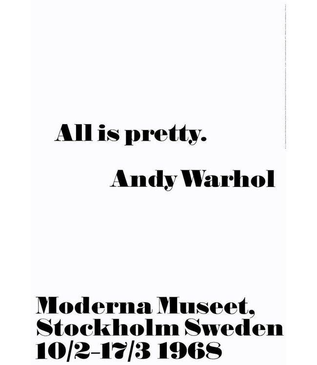 WARHOL MODERNA MUSEET POSTER  :   UNFRAMED