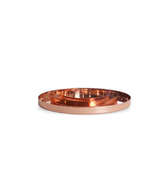 LOUISE TRAYS : COPPER + BRASS
