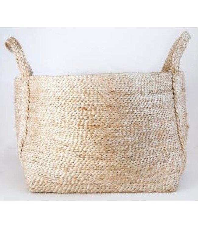 LARGE JUTE NATURAL BASKET
