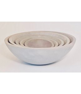 PETERMAN ROUND WOOD BOWLS : WHITE PEARL