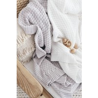 Diamond knit blanket - Warm grey