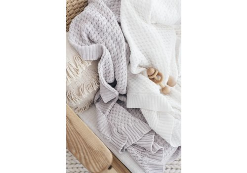 SNUGGLE HUNNY KIDS Diamond knit blanket - Warm grey