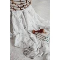 Mousseline coton bio - Fern