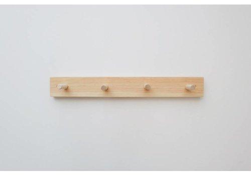 MINIKA Wooden peg rail - 4 hooks
