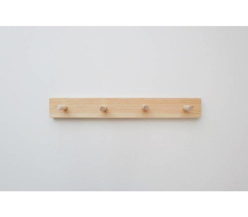 Support en bois - 4 crochets