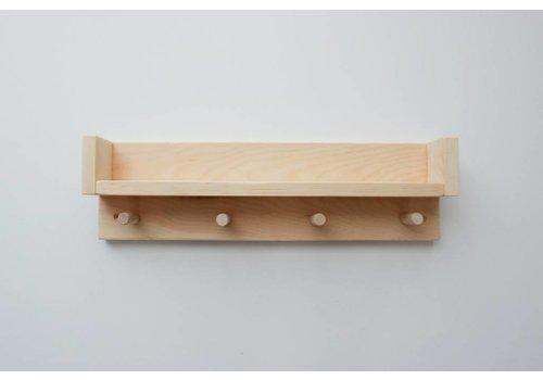 MINIKA Étagère en bois - 4 crochets