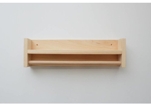 MINIKA Wood shelf - rolling