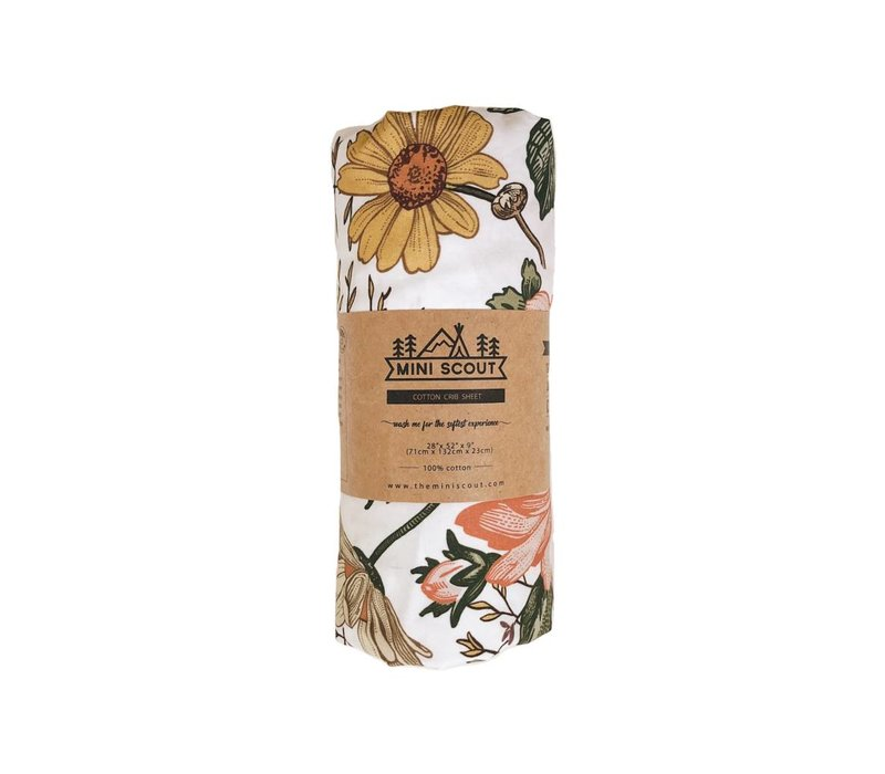 Crib sheet - Garden floral