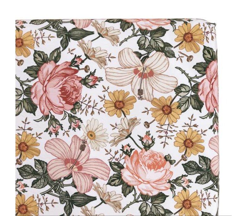 Drap contour - Jardin fleuri