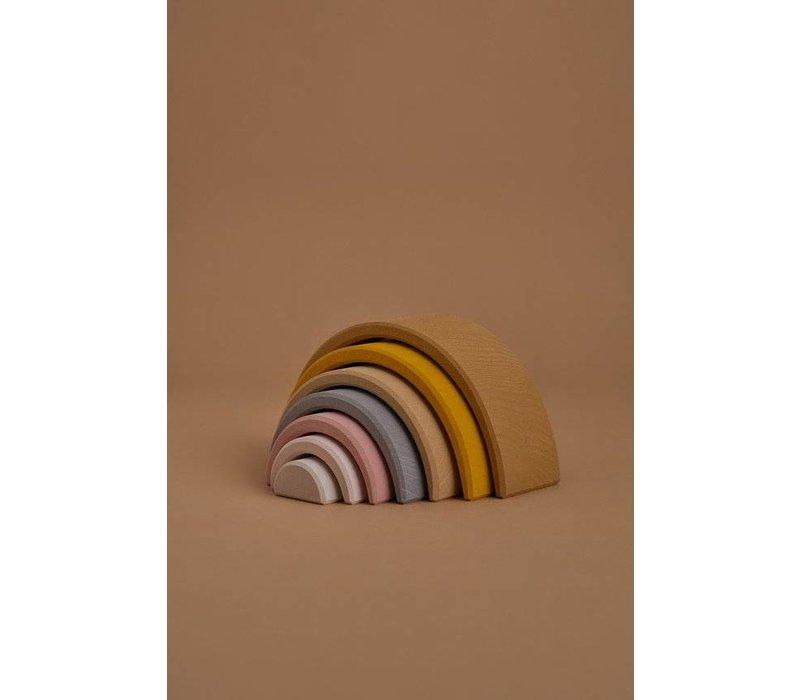 Wooden rainbow arch stacker