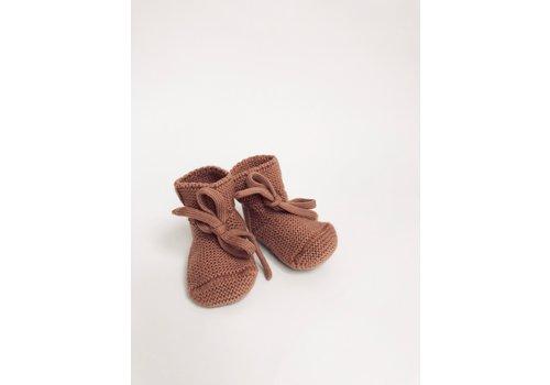 HVID Merino wool booties - Brick