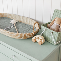 Changing basket - luxe organic cotton insert - Sage