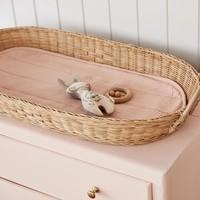 Changing basket - luxe organic cotton insert - Rose