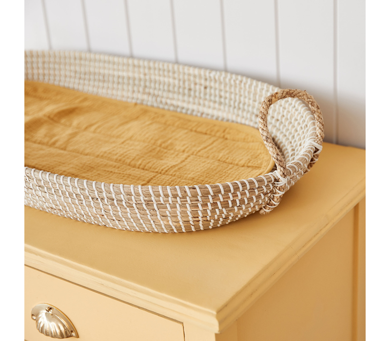 Changing basket - luxe organic cotton insert - Mustard
