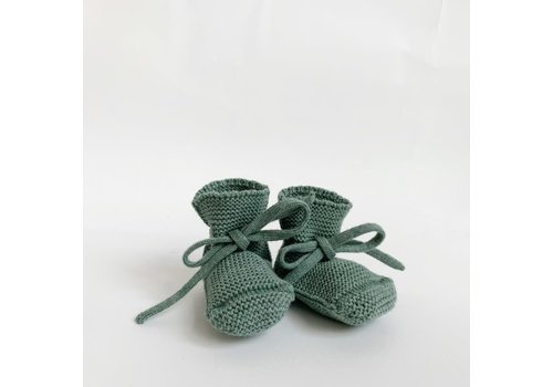 HVID Merino wool booties - Green