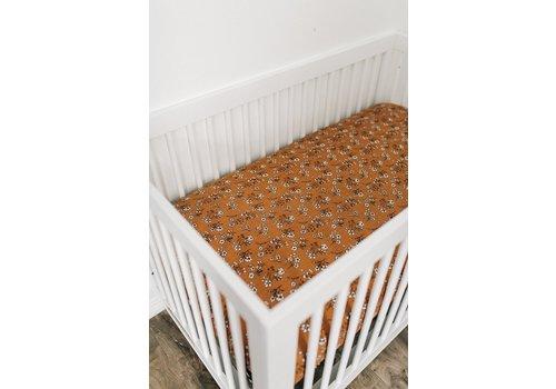 MEBIE BABY Vintage floral crib sheet