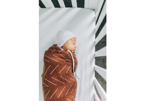 MEBIE BABY Rust mudcloth swaddle blanket
